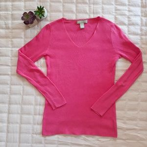 Banana Republic guava pink light-weight sweater